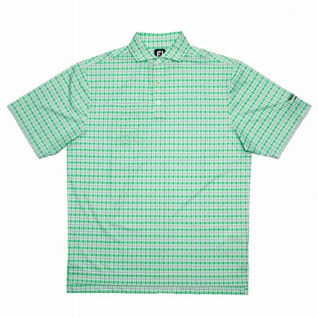 FJ Lisle Plaid Print w/ Self Collar - White + Green/Navy