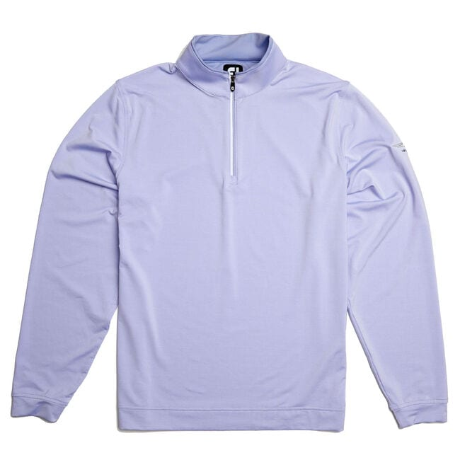 FJ Lightweight Striped Half-Zip Pullover - Lavender/White