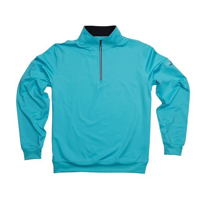 FJ Performance Half-Zip Pullover w/ Gathered Waist - Aqua