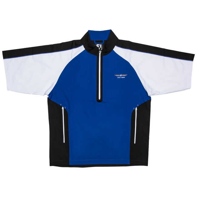 FJ Short Sleeve Sport Windshirt - Royal/Black/White