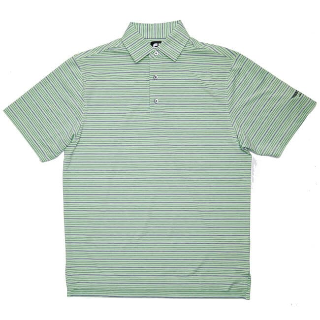 FJ Lisle Space Dye Stripe w/ Self Collar - Honeydew