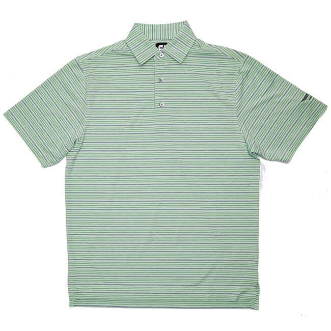 FJ Lisle Space Dye Stripe w/ Self Collar - Honeydew