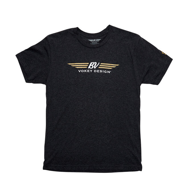 BV Wings T-shirt - Black w/ Gold