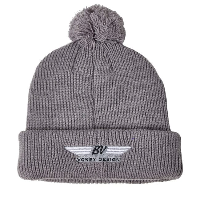 BV Wings Pom Pom Winter Hat - Grey