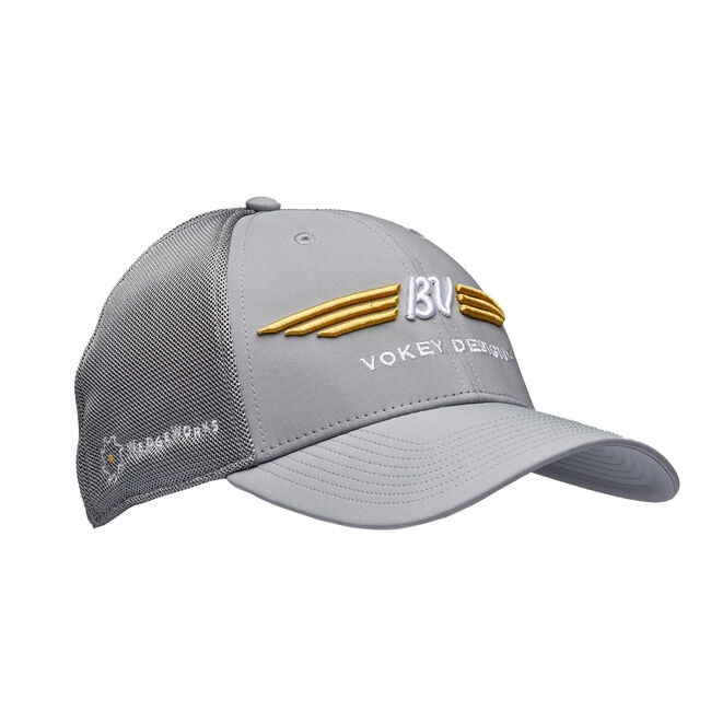 BV Wings Tour Sports Mesh Cap - Grey + White/Gold