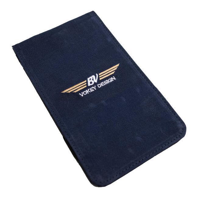 BV Wings Waxed Canvas Yardage Book & Scorecard Holder - Navy