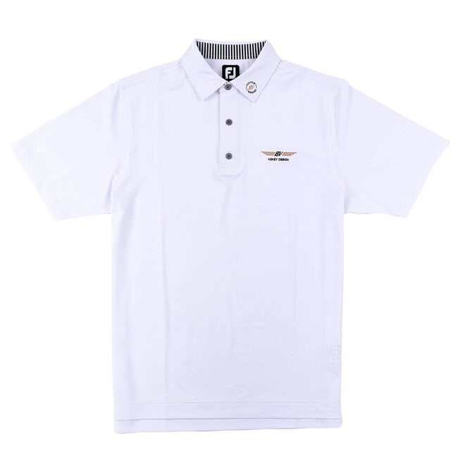 FJ ProDry Performance Solid Lisle w/ Self Collar - White