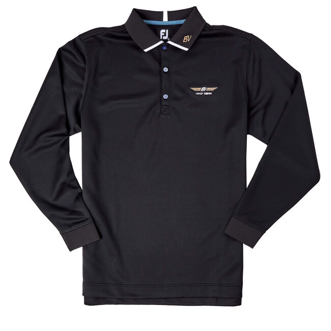 FJ Long Sleeve Thermocool Shirt w/ Knit Collar - Black
