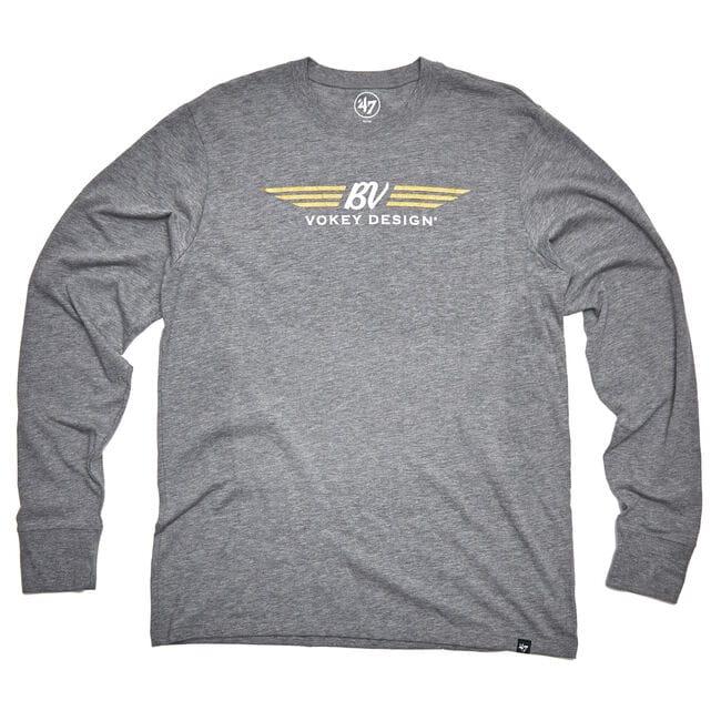 BV Wings Long Sleeve T-Shirt - Slate Grey