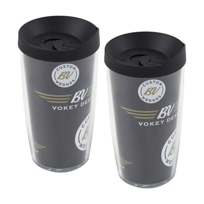 Vokey Tervis Tumbler 2-pc Set - Black/White/Gold
