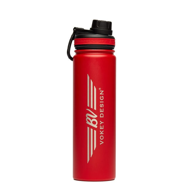 BV Wings 22oz Stainless Steel Sport Bottle - Red