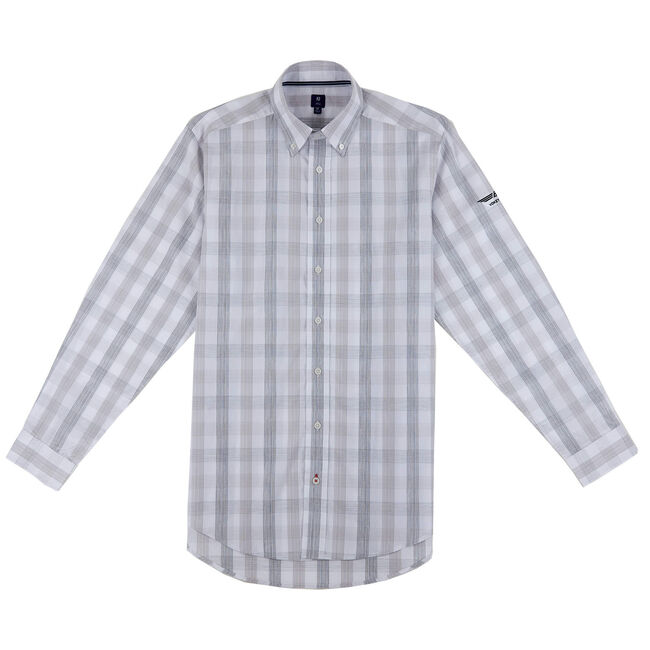 FJ 1857 Lifestyle Button Down - Striated Check Woven - White/Heather Grey/Charcoal