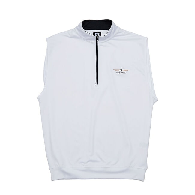 FJ Performance Half-Zip Jersey Vest - White