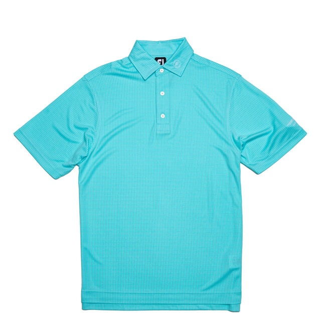 FJ Diamond Jacquard w/ Self Collar - Aqua