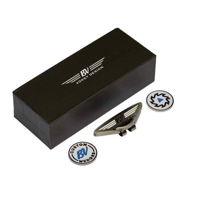 Vokey Headwear Clip & Ball Marker Kit - White/Black/Blue
