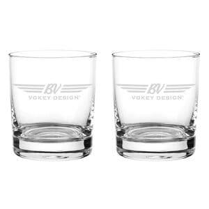 Vokey Double Old-Fashioned Glassware Set (Set of 2)