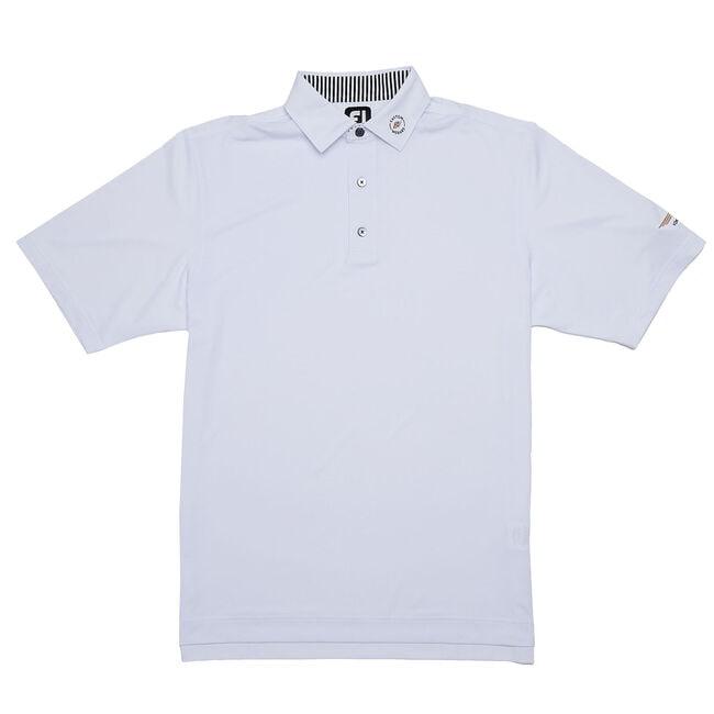 FJ ProDry Solid Lisle Shirt w/ Self Collar - White