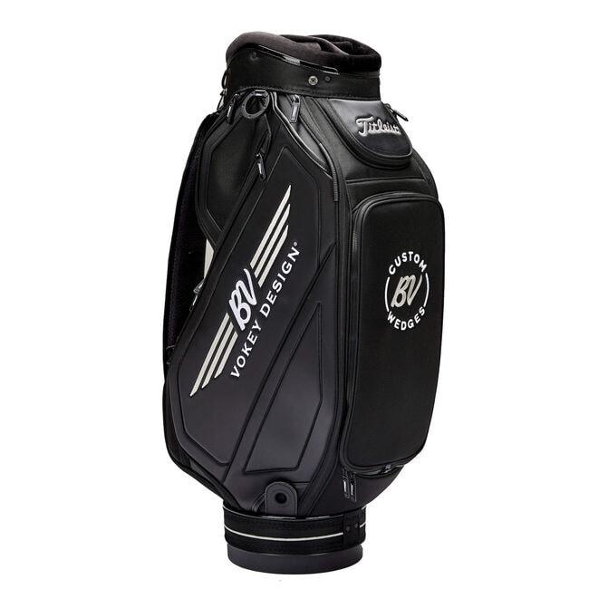 Vokey Midsize Staff Bag - Black/White/Silver