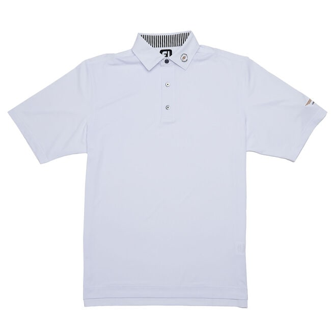 FJ ProDry Solid Lisle Shirt w/ Self Collar - White
