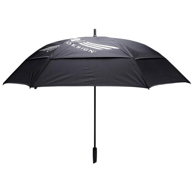 Vokey Tour Double Canopy Umbrella - Black + White/Silver