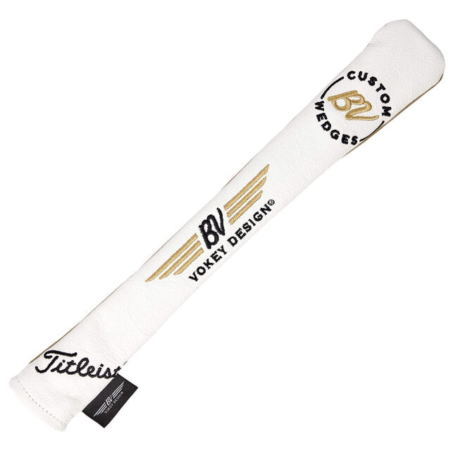 Vokey/Titleist Alignment Stick Cover - White + Black/Gold