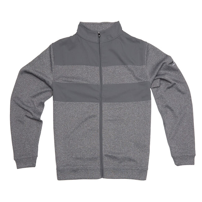 FJ Flat Back Rib Full-Zip Mid Layer - Granite Heather