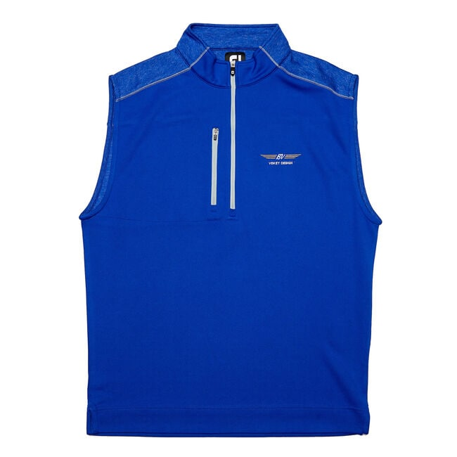 FJ Quarter-Zip Heather Block Vest - Ultramarine