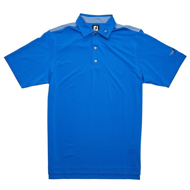 FJ Lisle Solid w/ 4 Dot Jacquard Yoke - Royal Blue/White