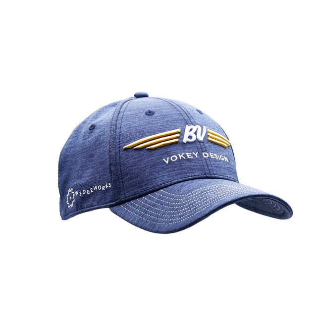 BV Wings Space Dye Cap - Deep Back - Navy w/ Gold