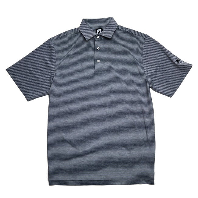 FJ Heather Pinstripe Lisle w/ Self Collar - Grey/Black