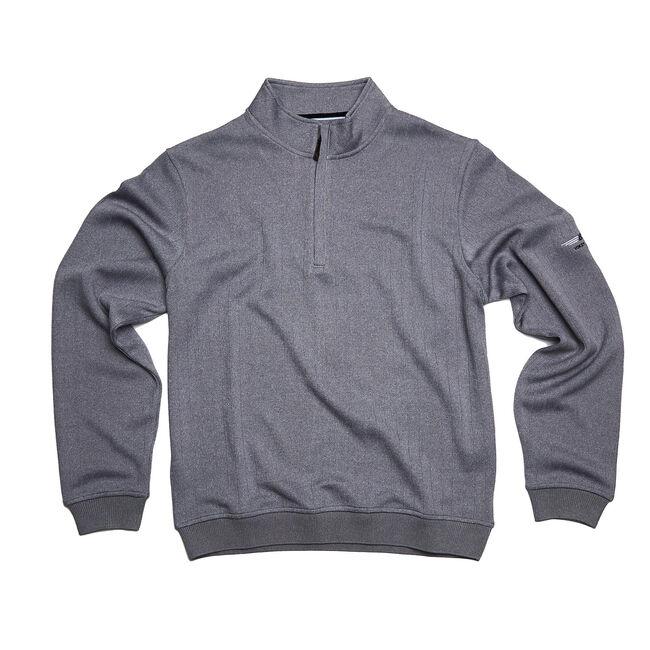 FJ Drop Needle Half-Zip Pullover w/ Gathered Waist - Heather Grey
