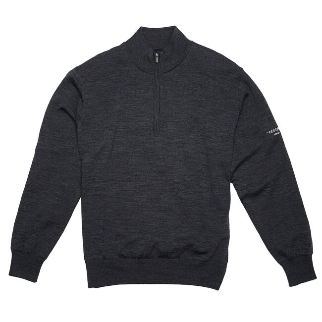 FJ Performance Lined Merino Sweater - Heather Charcoal