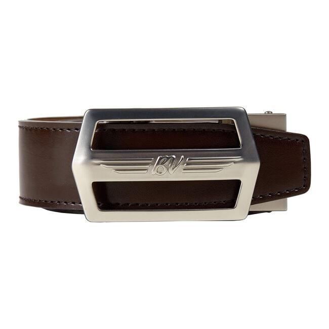 BV Wings Nickel Belt w/ Espresso Brown Strap